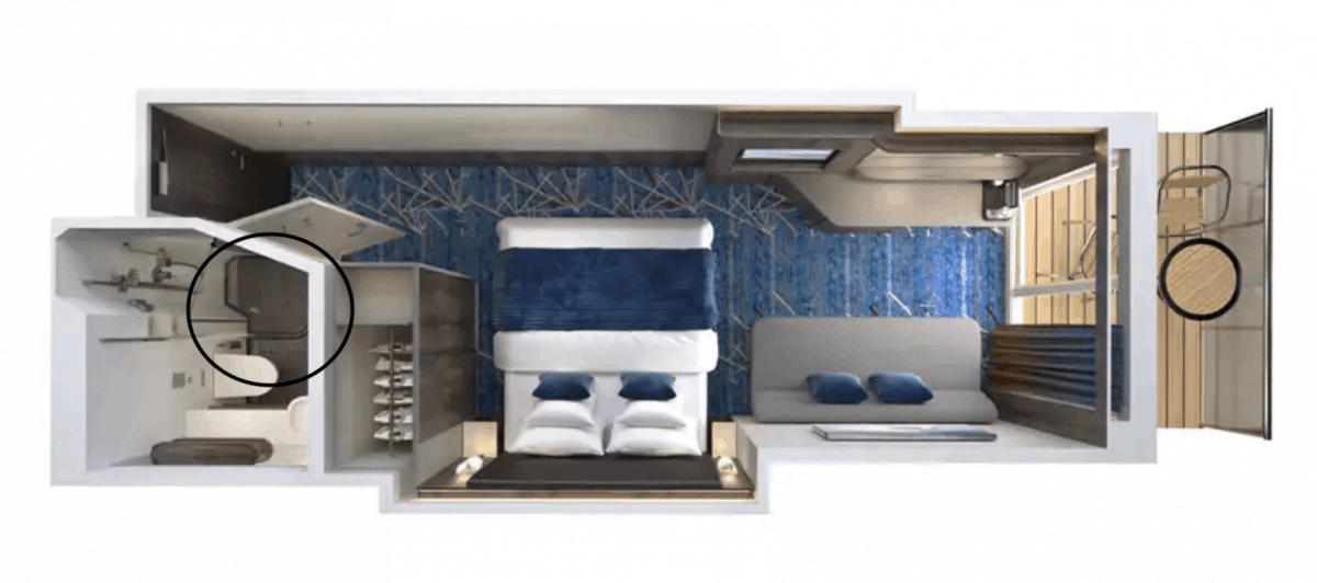 Mini Suite Balcony vs Balcony Norwegian Encore Shower Size
