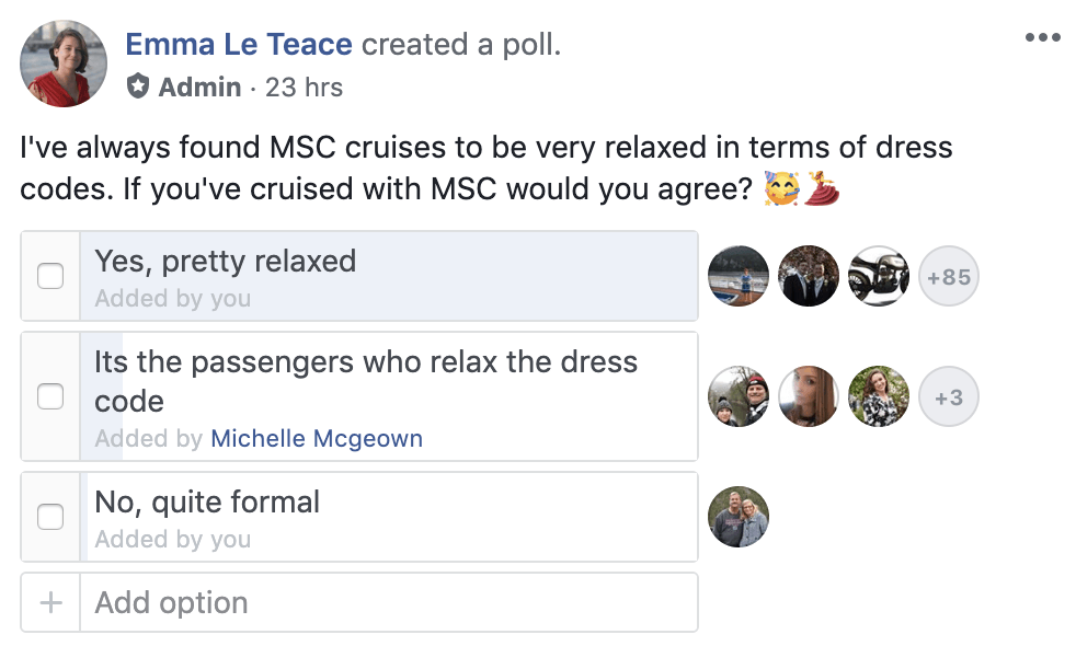 Are dress codes on MSC enforced?