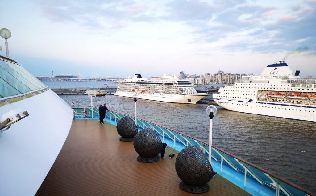 St Petersburg Cruise Ships Docked CMV Viking Marella