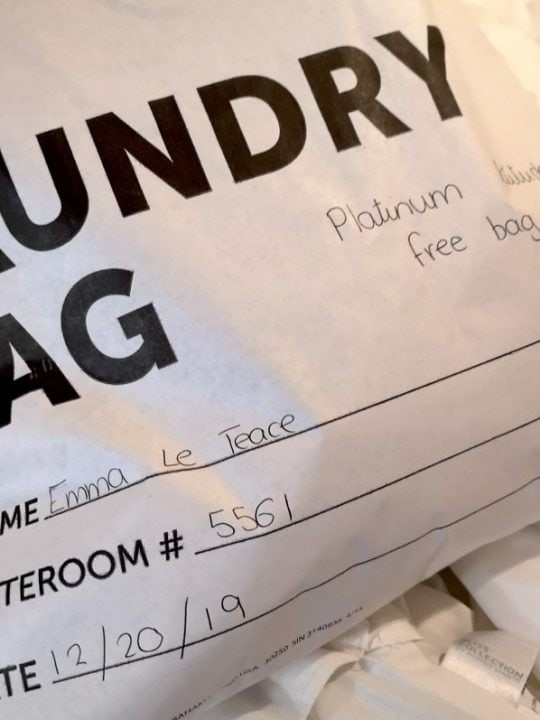 Laundry Bag Norwegian Cruise Line Platinum Free Bag