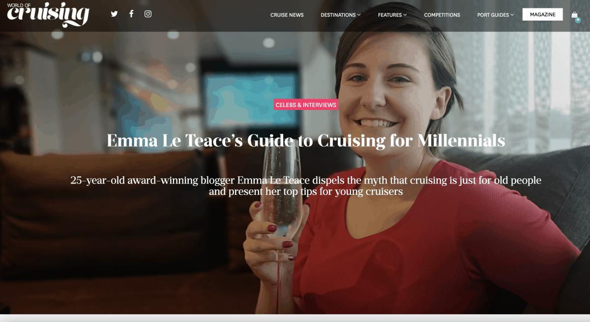 Emma Cruises World of Cruising