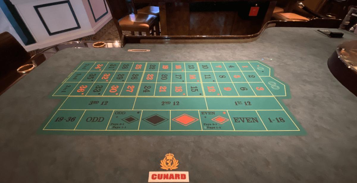 Cunard Cruise Casino Tables
