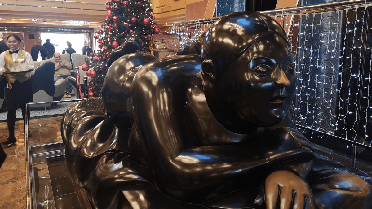 Costa Luminosa Statue Women in Lobby