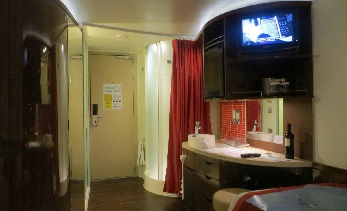 Norwegian Epic Bathroom Shower and Toilet Sink in Room