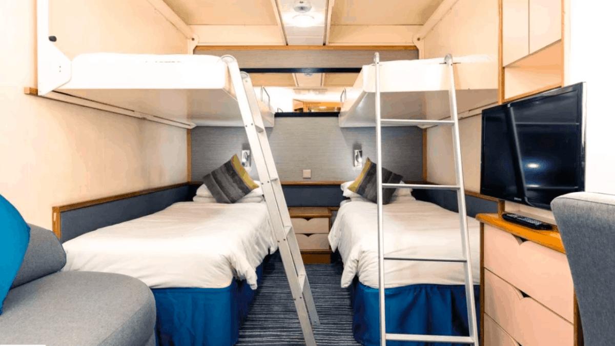 pullman beds cruise ship inside cabin