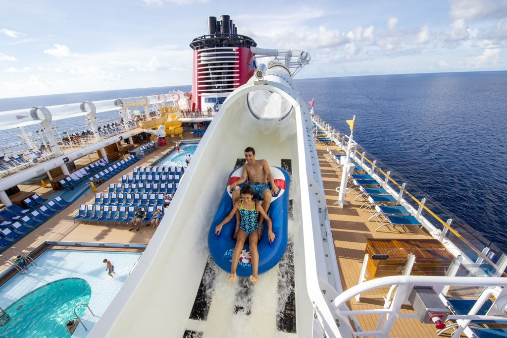 Disney Cruise Line Waterslides