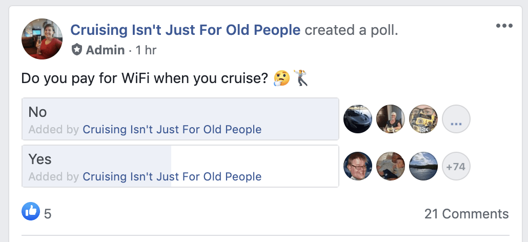 pay for wifi when cruise
