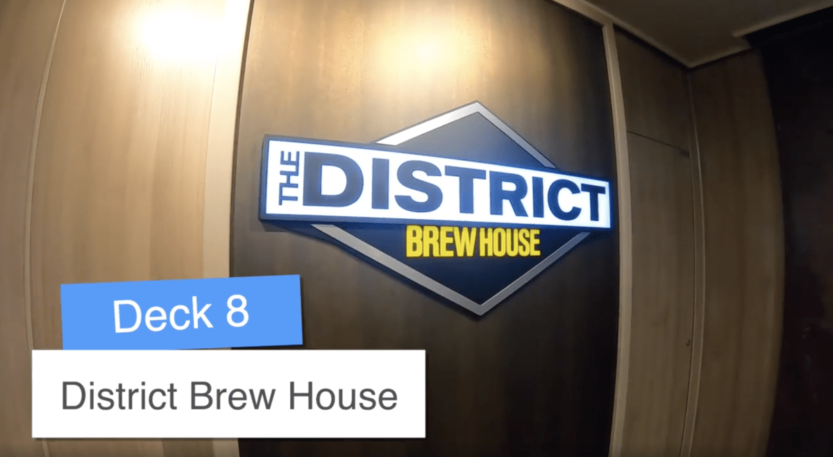 Norwegian Encore District Brewhouse