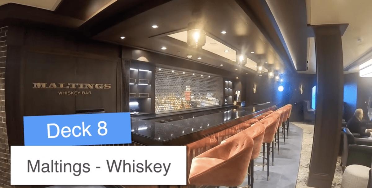 Norwegian Encore Maltings Whiskey Bar