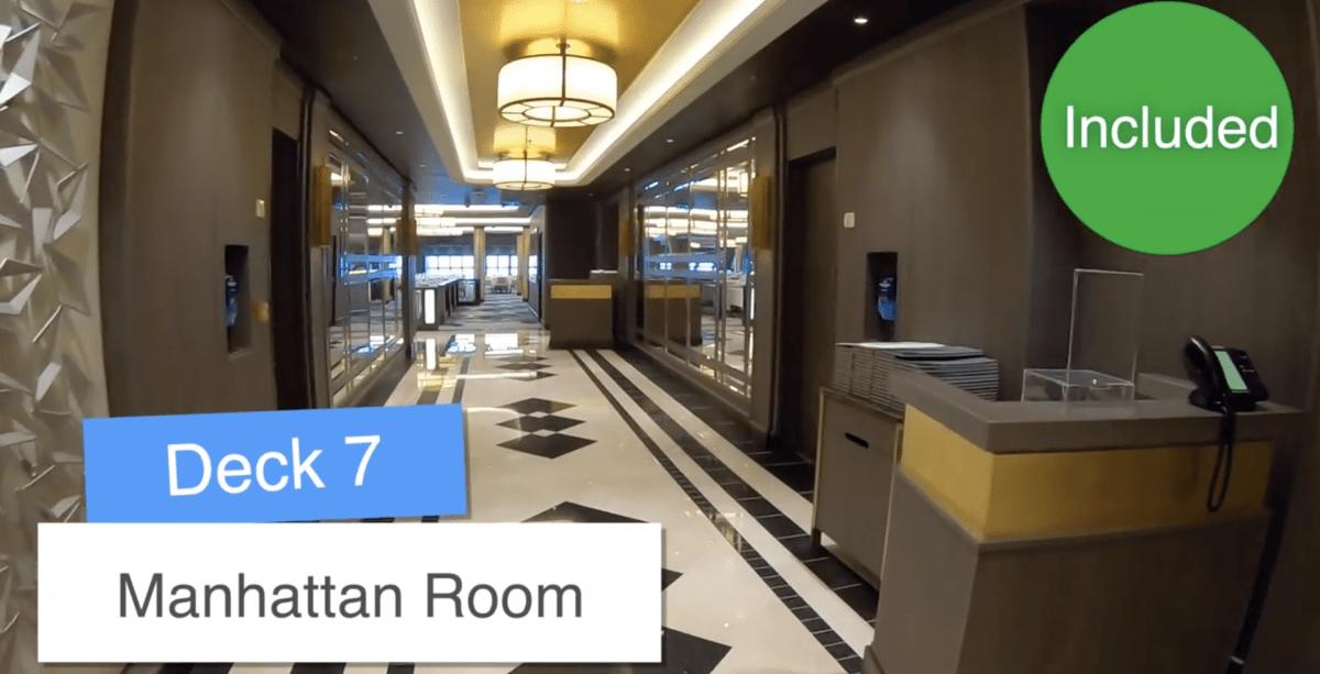 Norwegian Encore Main Dining Room Manhattan Room