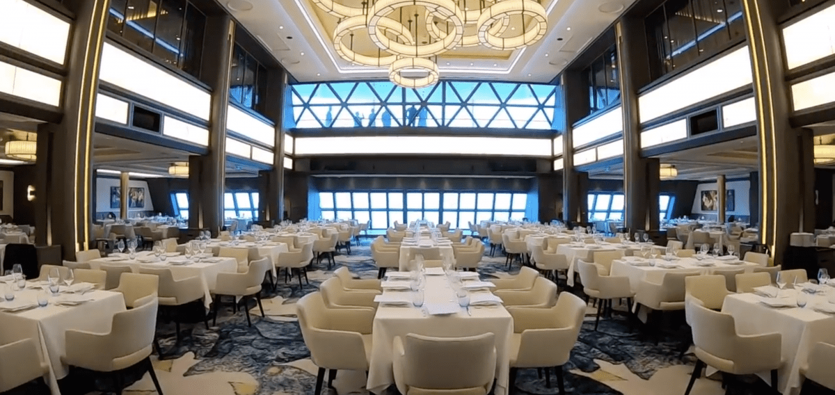 Norwegian Encore Main Dining Room Manhattan Room