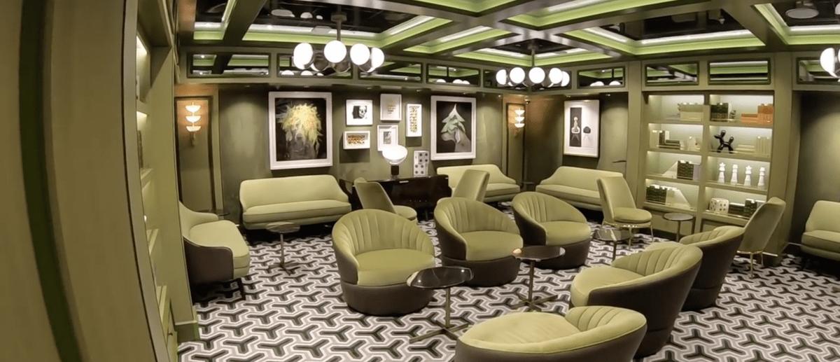 Norwegian Encore Comedy Club Green Room