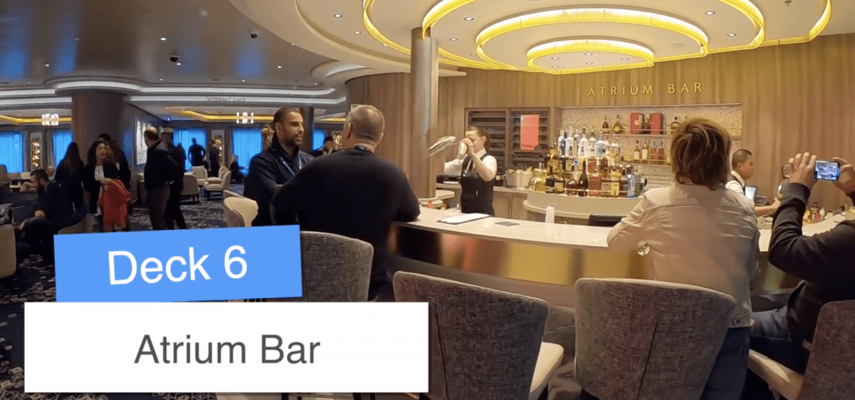 Norwegian Encore Atrium Bar