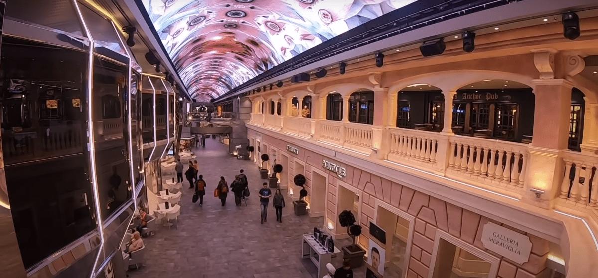msc meraviglia galleria meraviglia main street