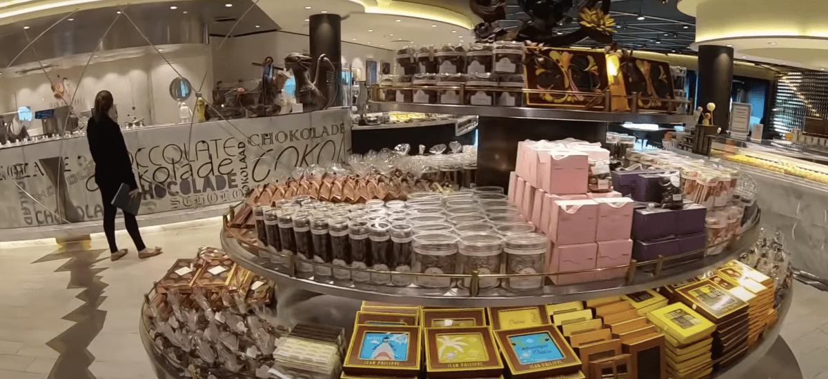 msc meraviglia chocolate shop