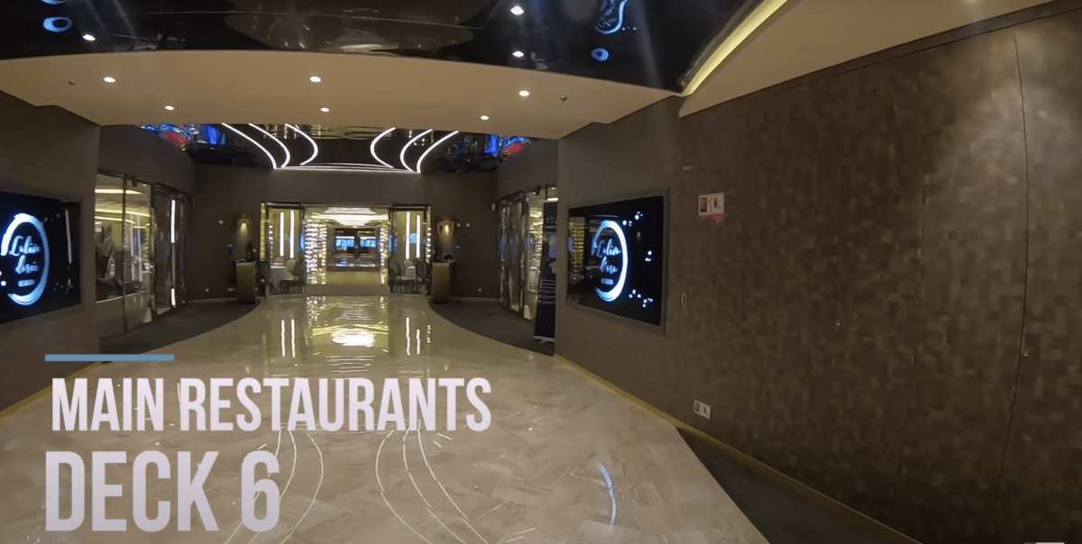 msc meraviglia main restaurant