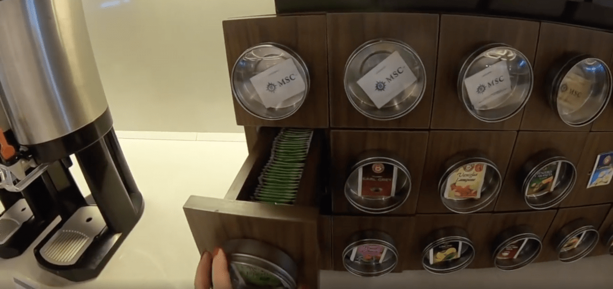msc meraviglia tea bag selection