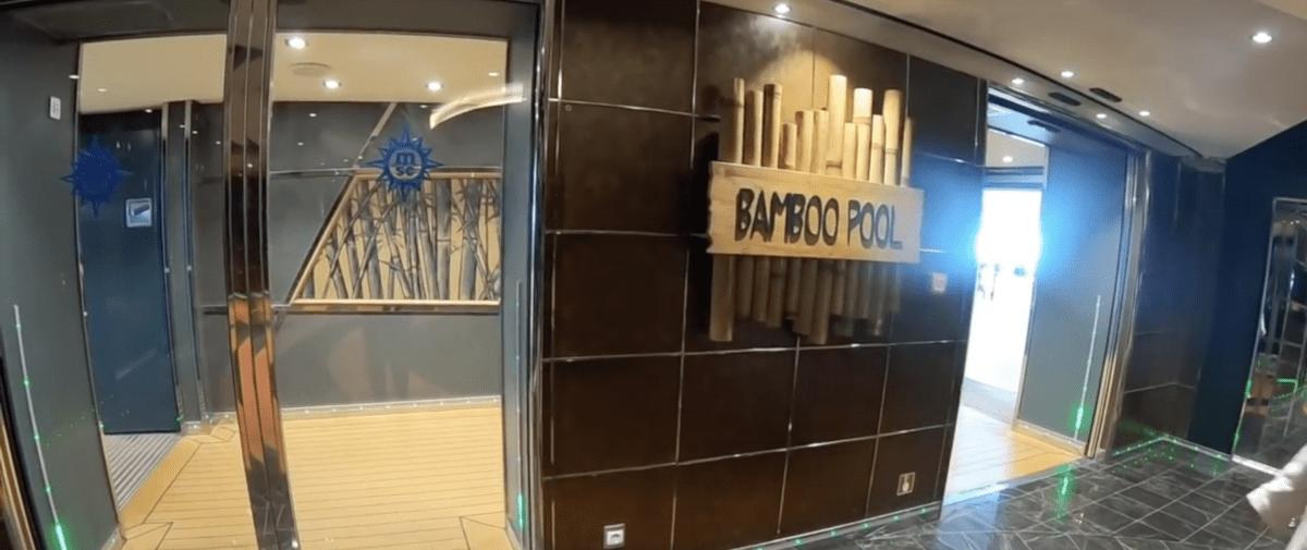 msc meraviglia bamboo pool