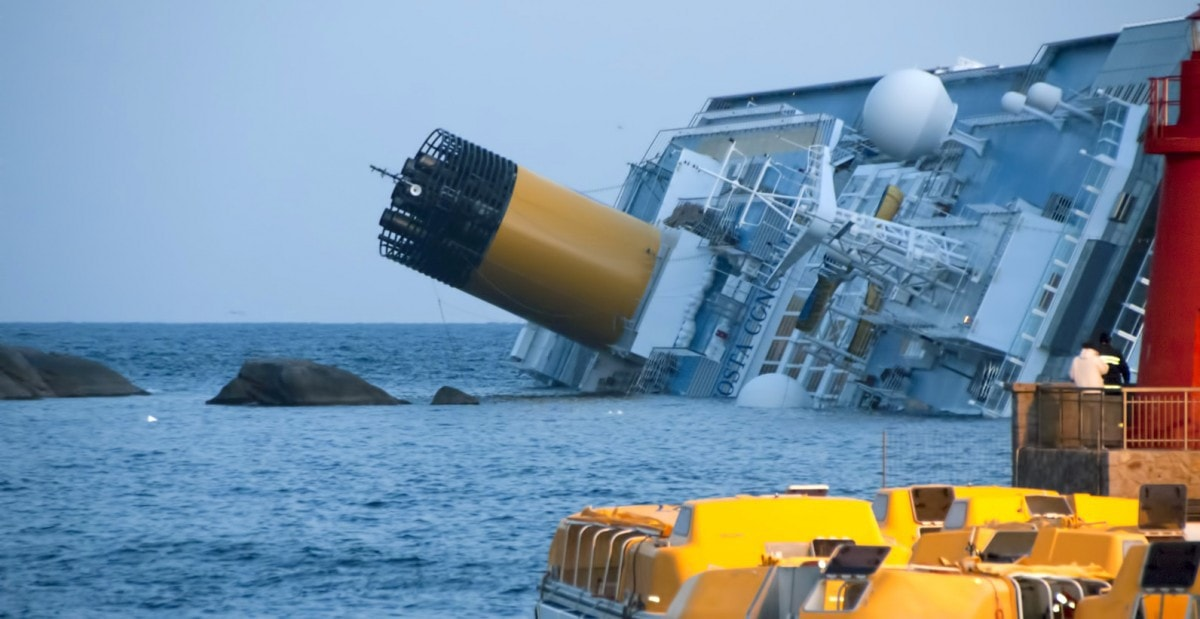 Costa Concordia On Side
