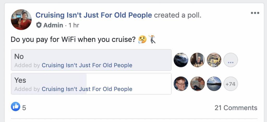 how many people pay for wifi on a cruise