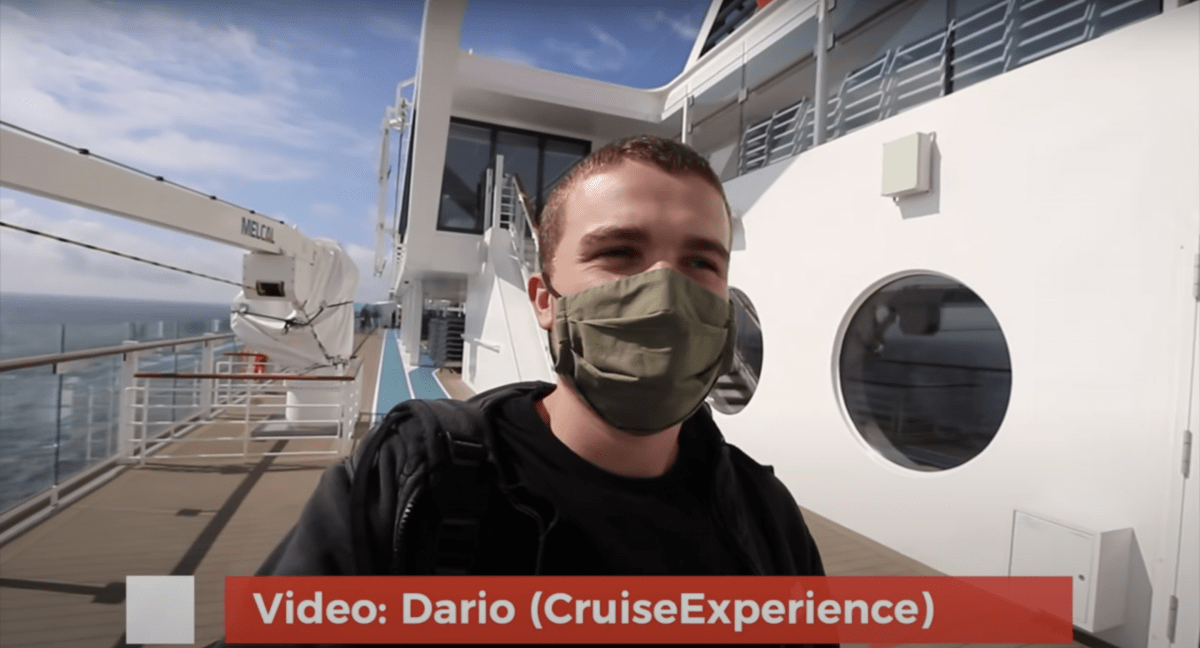 dario mein schiff 2 cruise july 2020 mask wearing