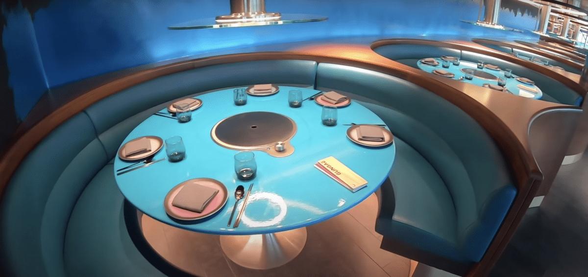 Virgin Voyages scarlet lady circle table