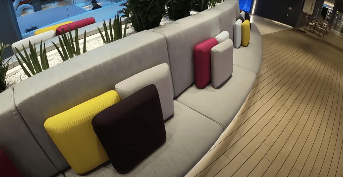 virgin voygages scarlet lady atrium seats pillows