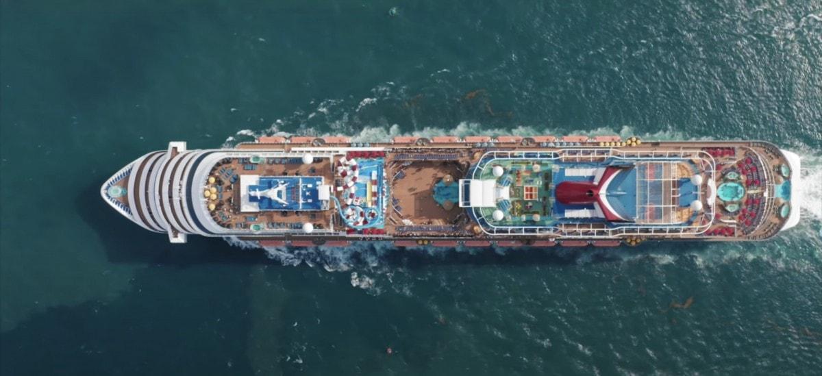 carnival cruise ship drone