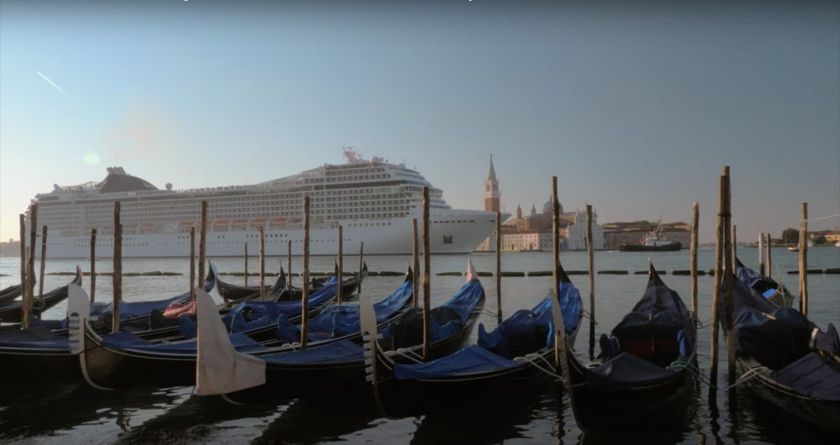 msc cruise ship in venice