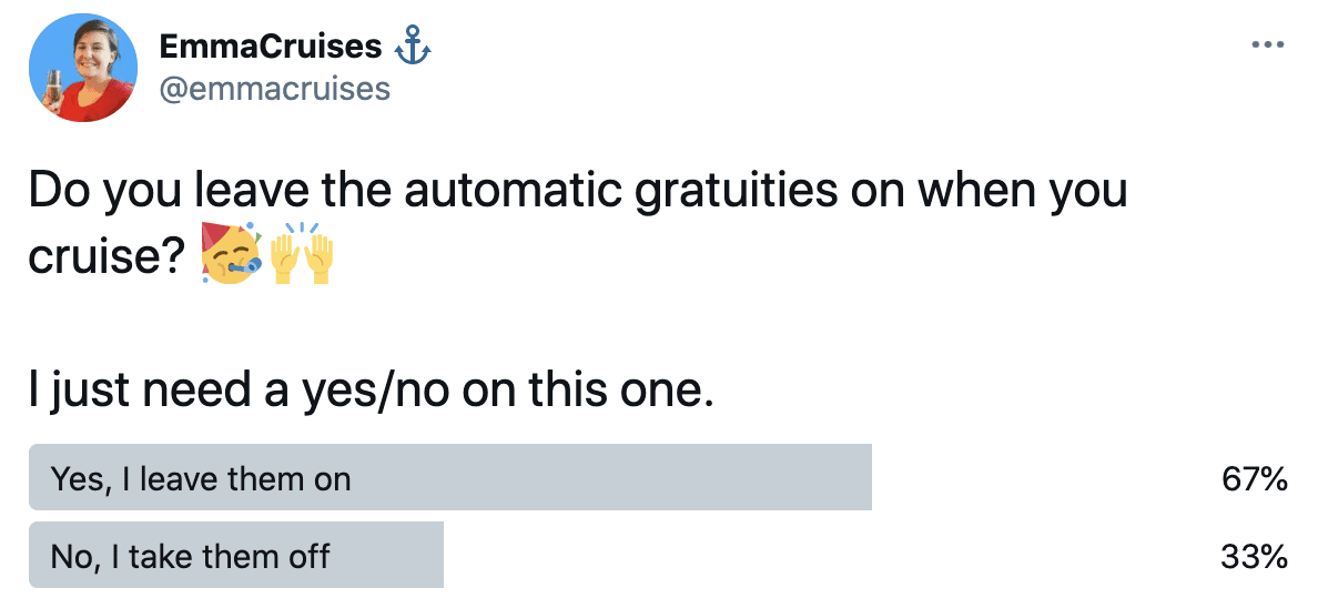 do you leave on automatic gratuities