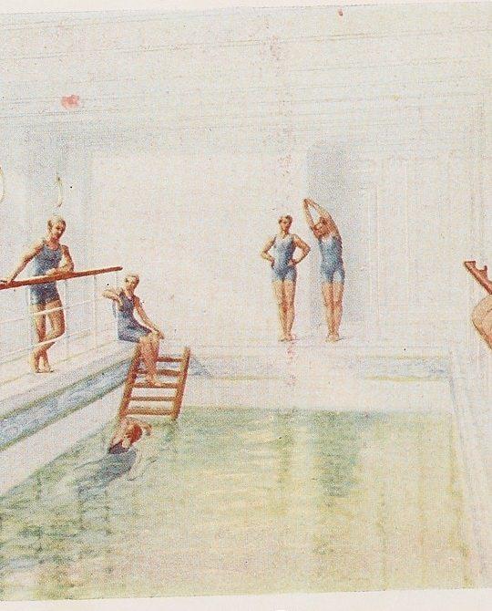 titanic swimming pool drawing