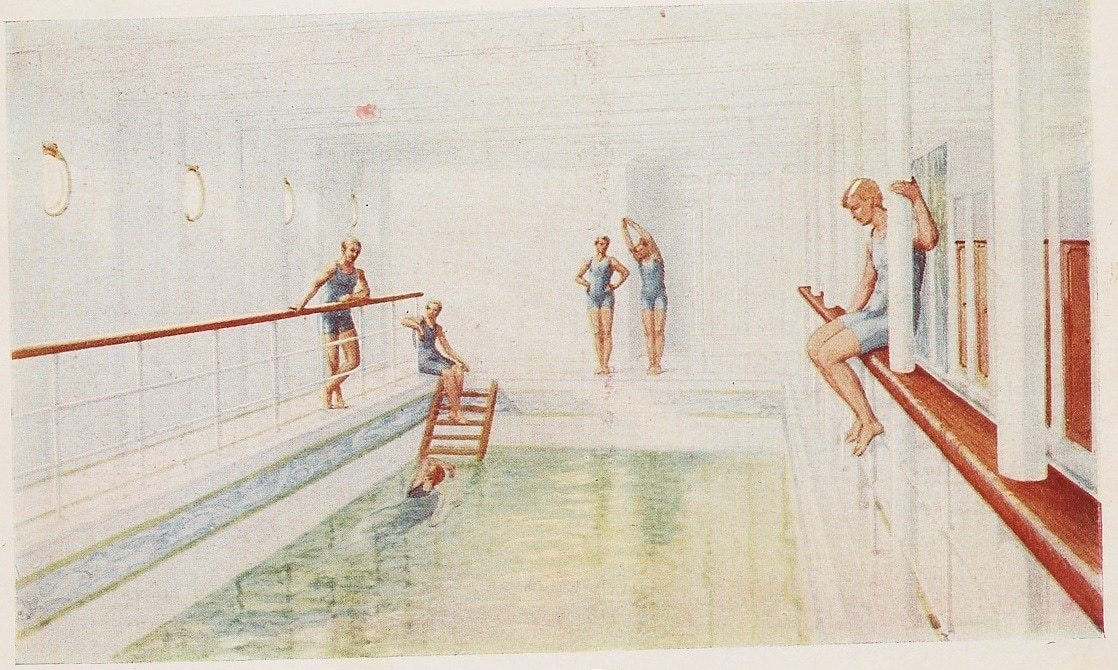 titanic swimming pool drawing