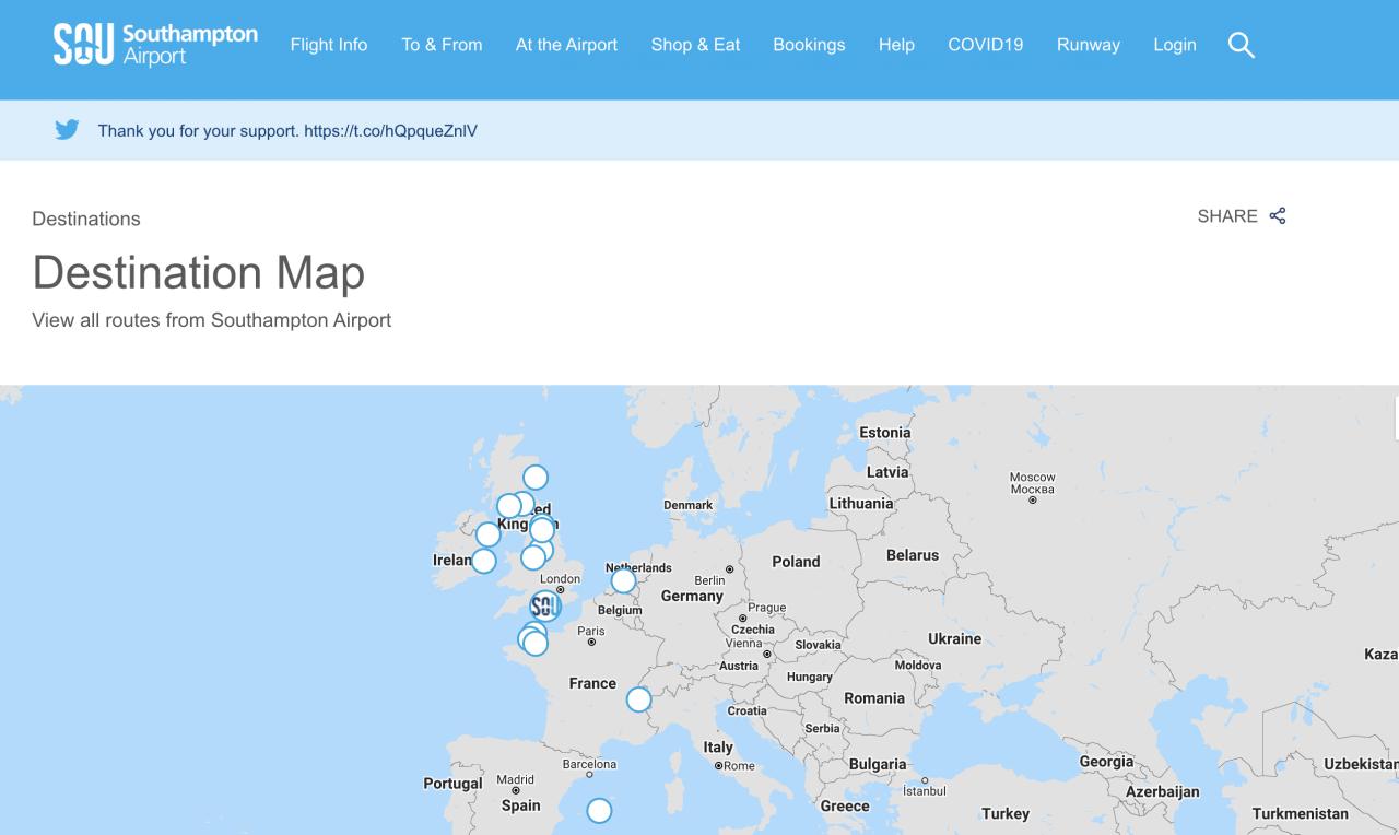 Southampton airport map