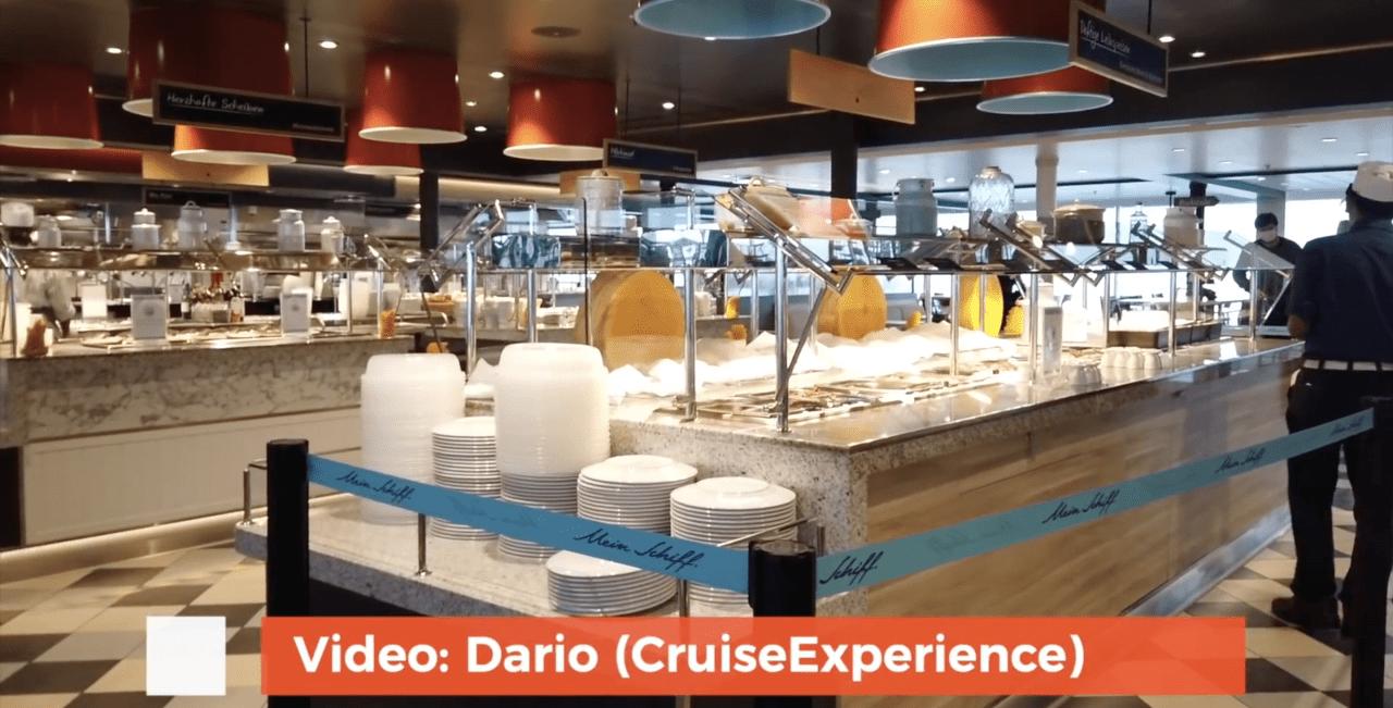 cruise ship buffet after coronavirus