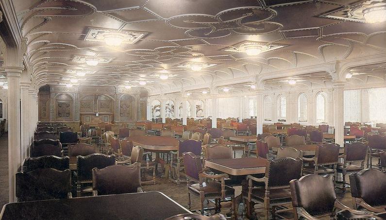 titanic olympic dining room