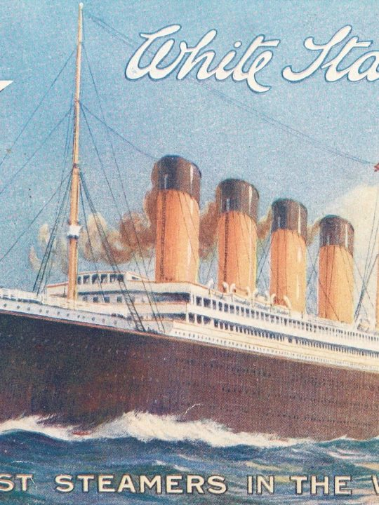 titanic and olympic poster