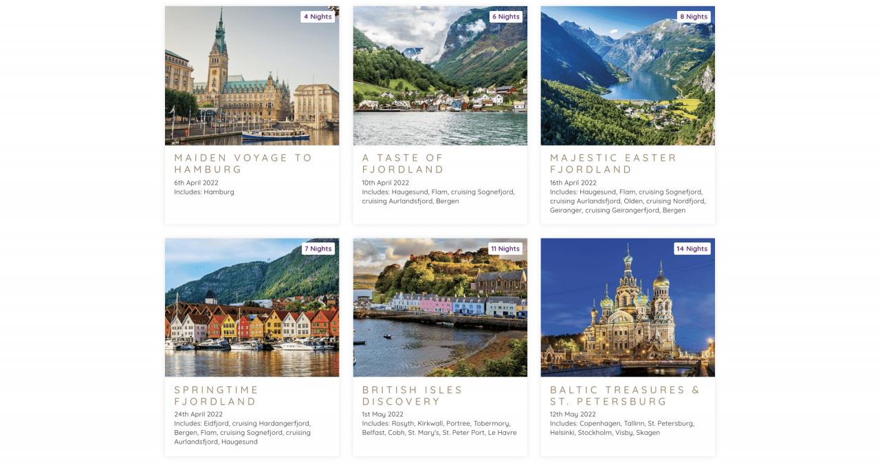 ambassador cruise line itineraries