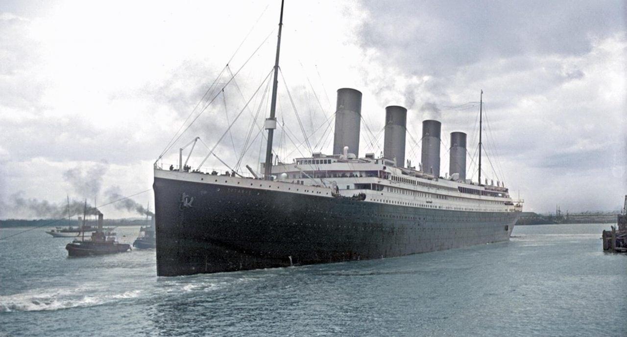 titanic colourised