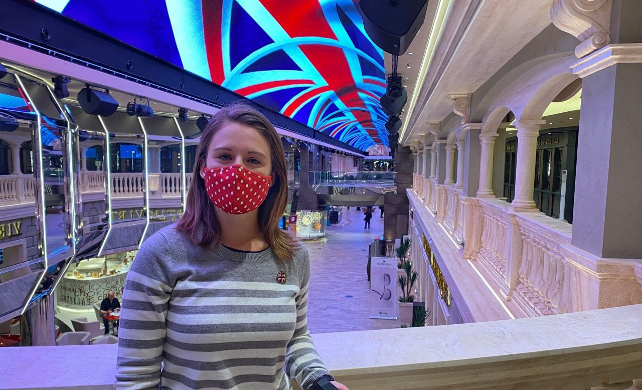 msc virtuosa mask on cruise ship promenade