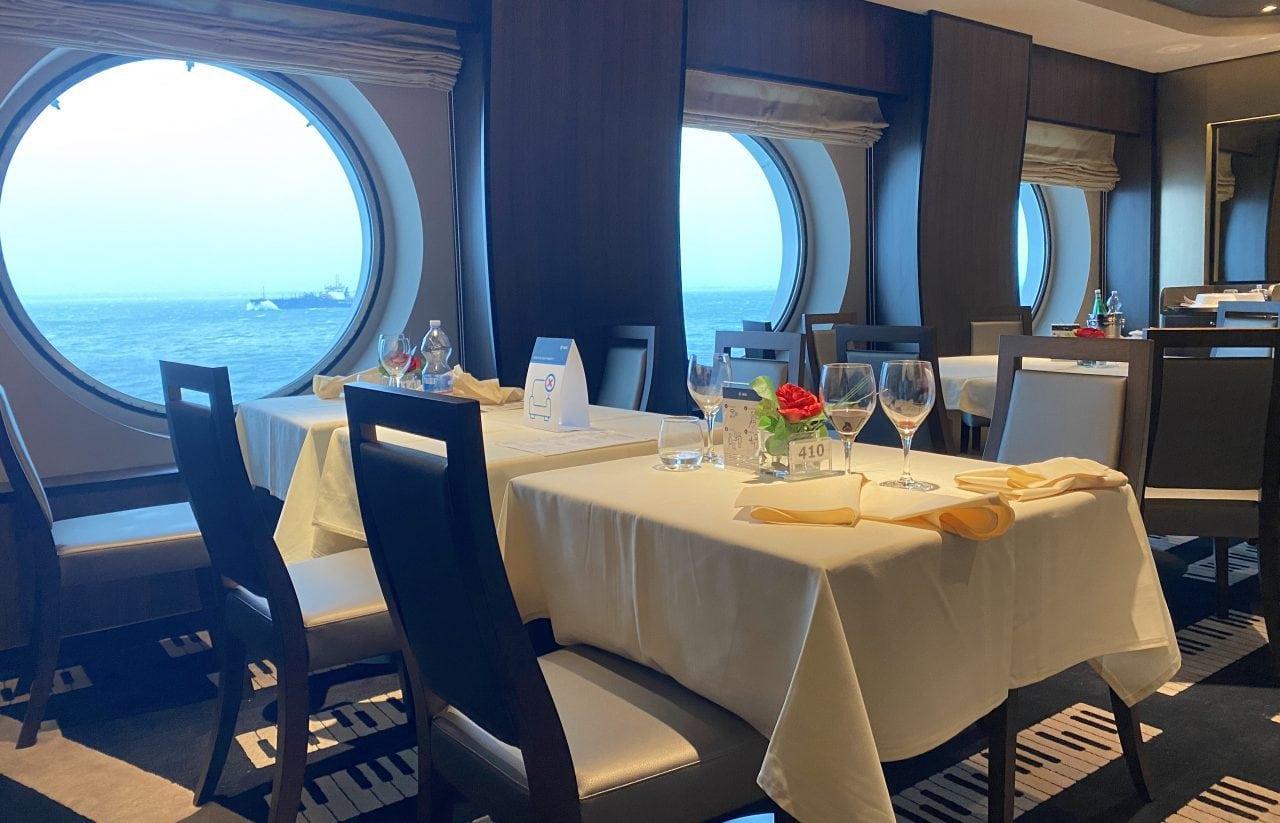 MSC Virtuosa Main Dining Room Social Distancing