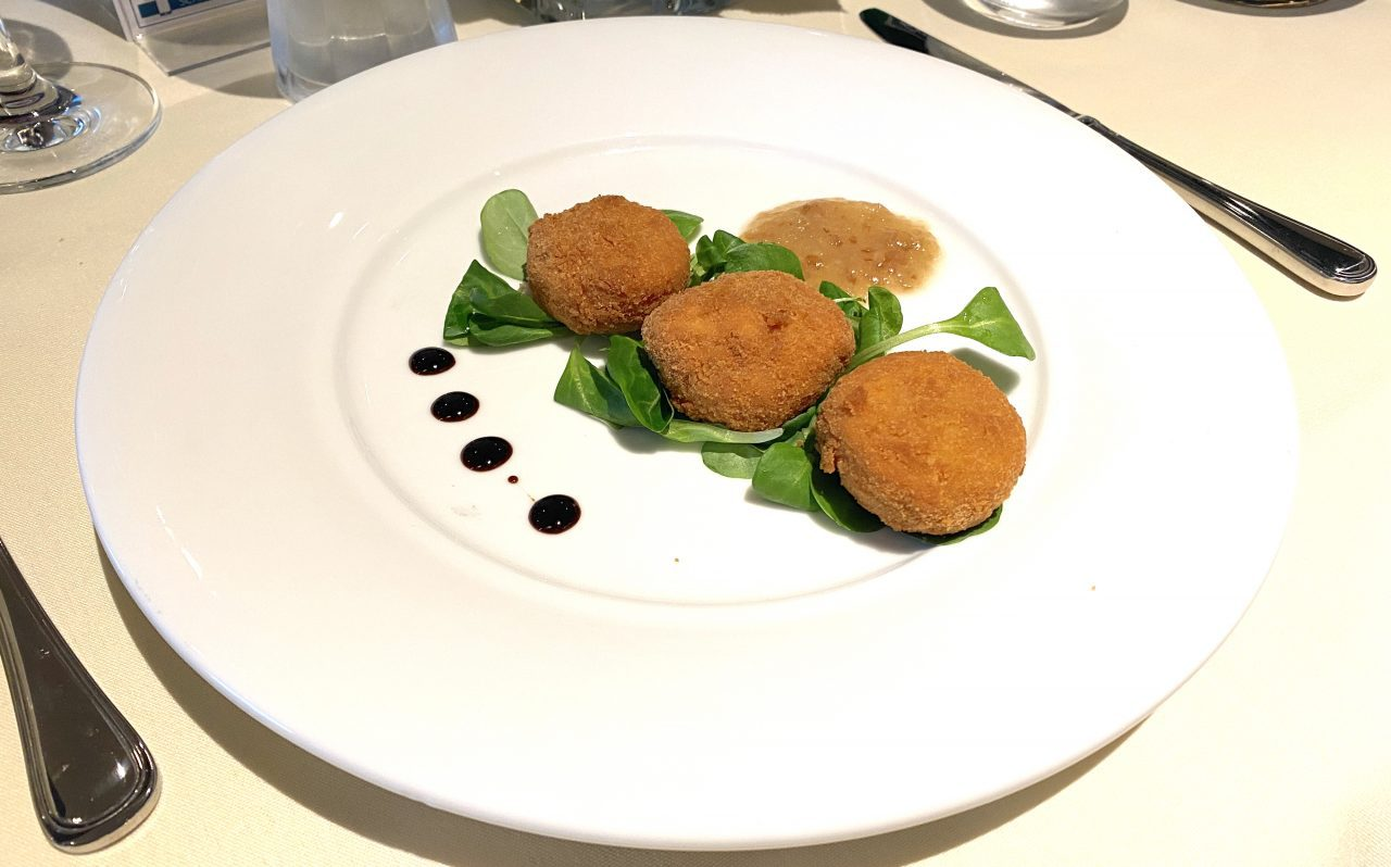 aged cheese fritters msc main dining room