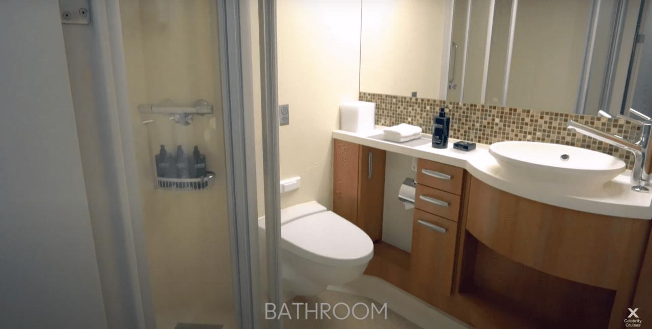 Celebrity Silhouette Inside Cabin Bathroom, Photo: Celebrity Cruises