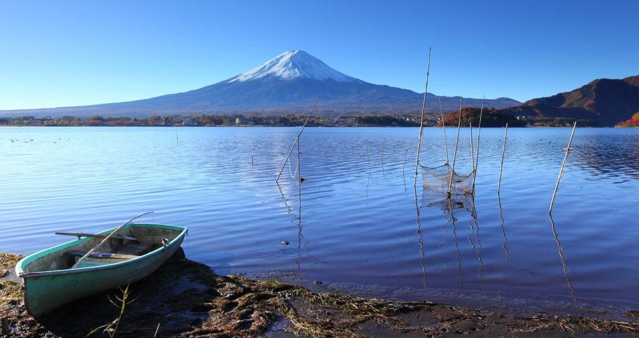 lake kawaguchi japan mount fuji