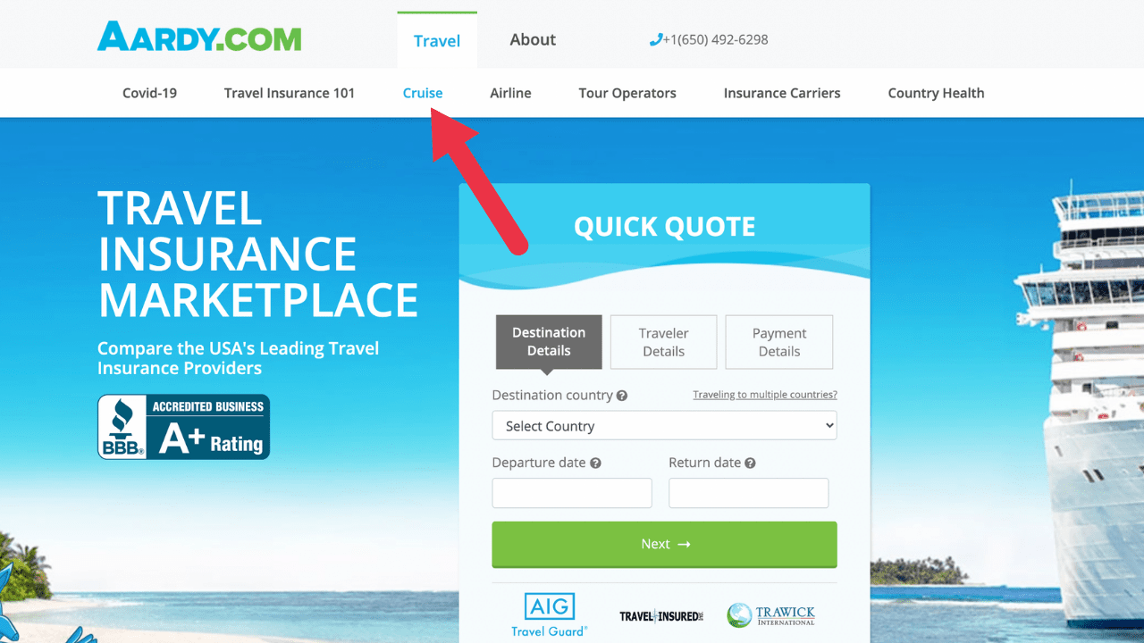aardy cruise travel insurance
