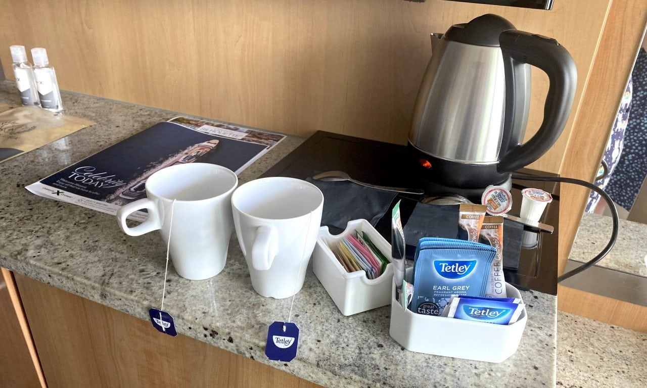 Celebrity Silhouette Tea and Coffee Kettle in Cabin