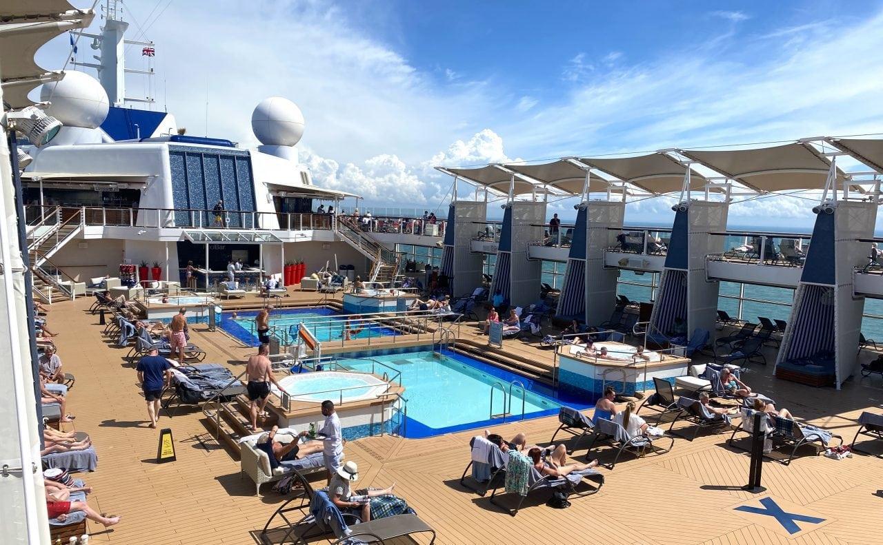 celebrity silhouette pool deck
