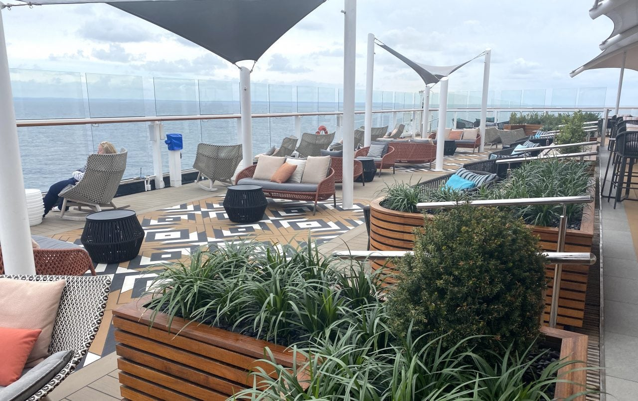 celebrity silhouette sunset bar new seating area