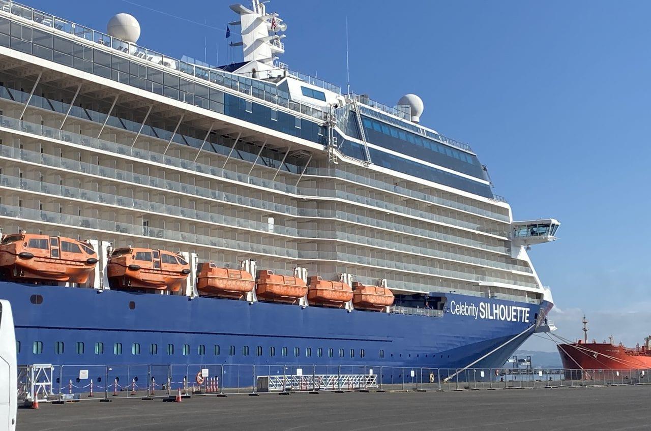 Celebrity Silhouette Ship Blue Hull