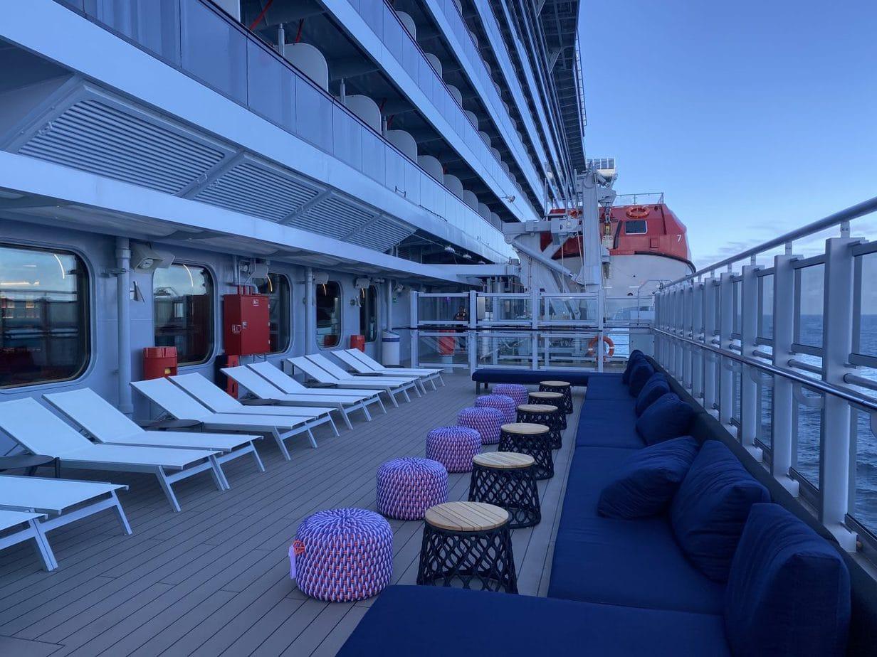virgin voyages scarlet lady promenade deck seating