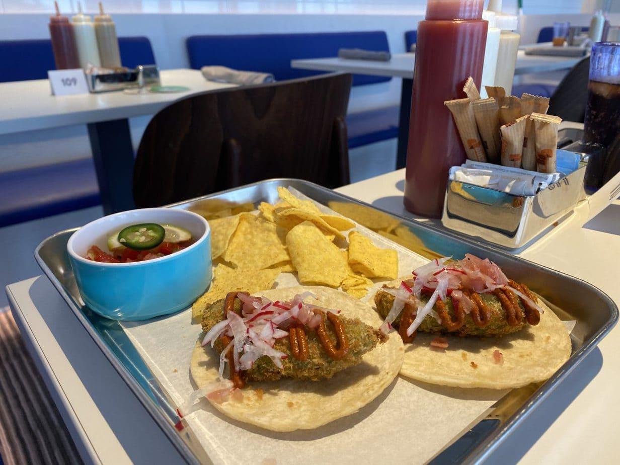 virgin voyages scarlet lady buffet galley food taco